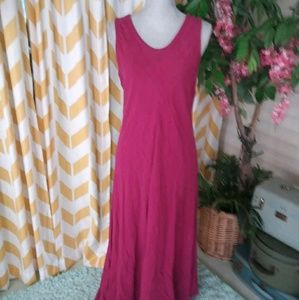 Eileen Fisher size M cranberry linen blend dress